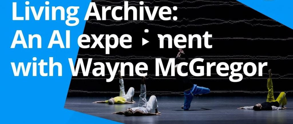Wayne McGregor's project with Google Arts & Culture Lab